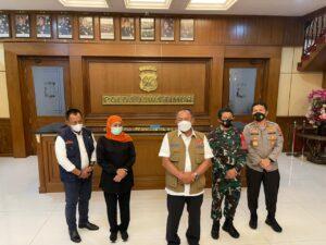 Antisipasi Peningkatan Kasus Covid-19 di Jatim, Forkopimda Gelar Rapat Koordinasi bersama BNPB di Polda Jatim