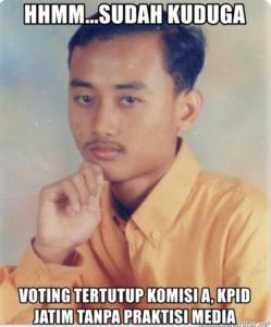 DPRD Jatim Voting Tertutup, KPID Tanpa Praktisi Media